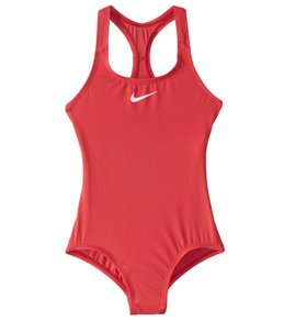 Girls' Nike Core Solid Racerback One Piece Swimsuit (Big Kid)