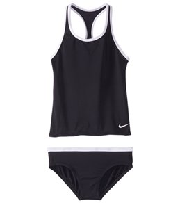 Girls' Nike Core Solid Racerback Tankini Set (Big Kid)