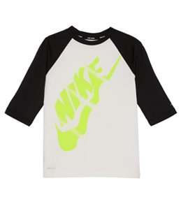 Nike Girls' Swim Half Sleeve Rash Guard (Big Kid)