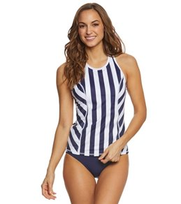 Tommy Bahama Women's High Neck Stripes Tankini Top