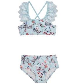 Seafolly Girls Girls' Blue Birds Garden Apron Tankini (Toddler, Little Kid)