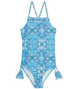 Seafolly Girls Girls' Gypsy Dream High Neck Tank One Piece Swimsuit (Big Kid)