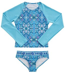 Seafolly Girls Girls' Gypsy Dream Long Sleeve Surf Set (Big Kid)