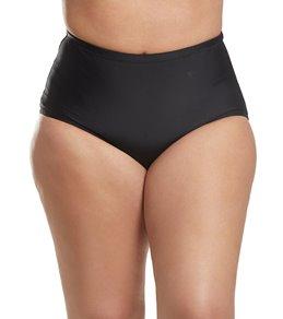 Raisins Curve Plus Size Sayulita Solid Shoreline Bikini Bottom