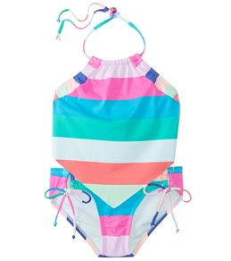 Hobie Girls' Scarf Tankini and Adjustable Hipster Swimwear Set (Big Kid)