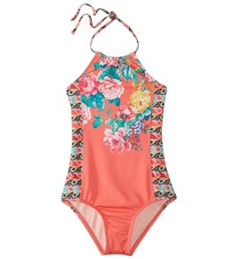 Hobie Girls' Petal Pusher One Piece Swimsuit (Big Kid)