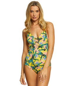 c73bc25bc6e54 Jessica Simpson Lanakai Plunge One Piece Swimsuit