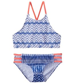 Platypus Australia Girls' High Neck Bikini Set (Little Kid, Big Kid)