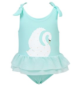 Snapper Rock Girls' Swan Tulle Skirt Swimsuit (Baby)