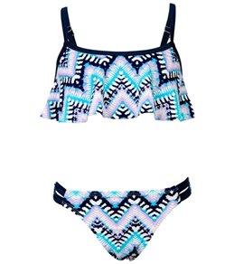 Snapper Rock Girls' Boho Flounce Bikini Set (Toddler, Little Kid, Big Kid)