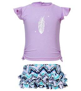 Snapper Rock Girls' Boho Ruffle Swimwear Set (Baby)