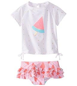 Snapper Rock Girls' Watermelon Ruffle Swimwear Set (Baby)
