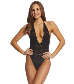 Indah Drew Crochet One Piece Swimsuit