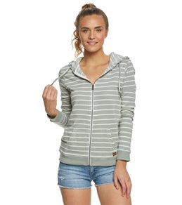 Roxy Trippin Stripe Zip Up Hooded Fleece