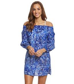 Lauren Ralph Lauren Playa Floral Off Shoulder Tunic