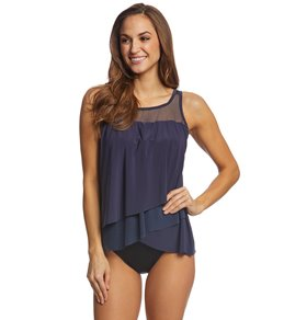 Miraclesuit Solid Mirage Tankini Top (DD Cup)
