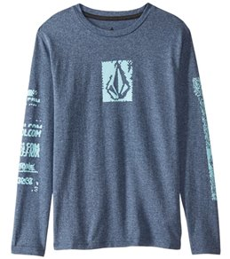Volcom Boys' Lido Pixel Heather Long Sleeve Shirt (Big Kid)