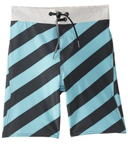 Volcom Boys' Stripey Elastic Boardshort (Toddler, Little Kid, Big Kid)