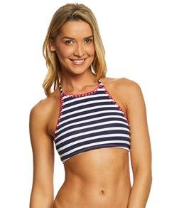 Tommy Bahama Breton Stripe High Neck Bikini Top
