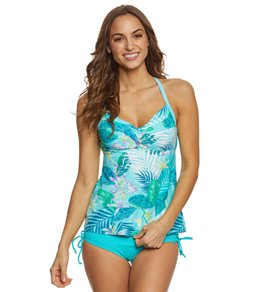 Beach House Palm Tropical Lucy Tankini Top