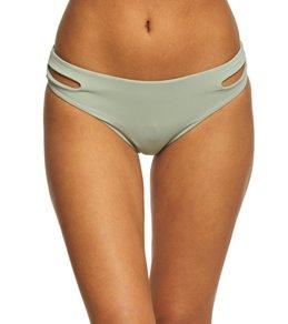 Roxy Women's Solid Softly Love Reversible 70's Pant Bikini Bottom