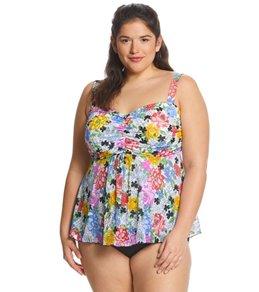 c04fc9a0b057b Fit4U Plus Size Flower Child Tankini Top