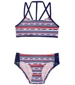 Gossip Girl Girls' Desert Stripe Bikini (Big Kid)