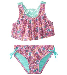 ad477bcdbe Hula Star Girls' Paisley Dream Two Piece Bikini (Toddler, ...