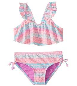 Hula Star Girls' Hearts Galore Two Piece Bikini (Toddler, Little Kid)