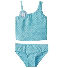 Hula Star Girls' Mermaid Princess Two Piece Tankini (Toddler, Little Kid)