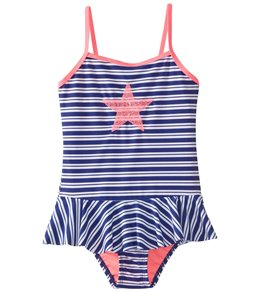 f2af460257 Hula Star Girls' Retro Stripe One Piece Swimsuit (Toddler, Little Kid)