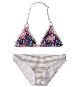 Roxy Girls' Surfing Miami Tiki Tri Swimwear Set (Big Kid)