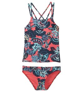 Roxy Girls' Let The Surf Tankini Swimwear Set (Big Kid)