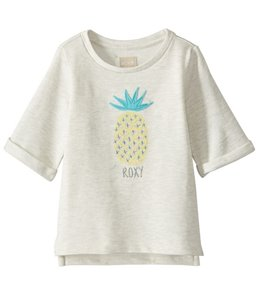 Roxy Girls' Always Kind Crew Neck Fleece Short Sleeve Shirt (Toddler, Little Kid, Big Kid)