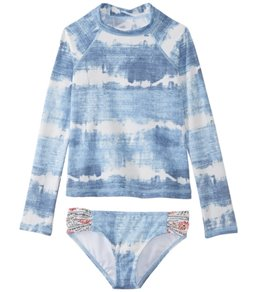 Billabong Girls' Lil Bliss Long Sleeve Rashguard Set (Big Kid)