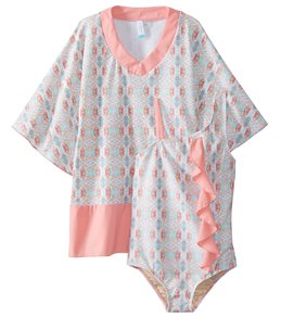 f7b2c12b77942 Cabana Life Girls' Bunglo Beach Swimsuit and Cover Up Set (Little ...