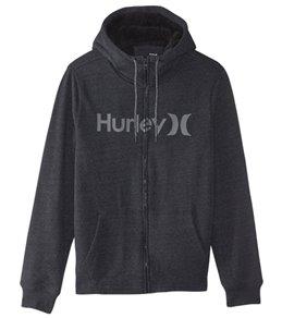 Hurley Men's Bayside Sherpa Zip Fleece Hoodie