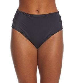 Coco Rave Solid Strappy High Waisted Bikini Bottom