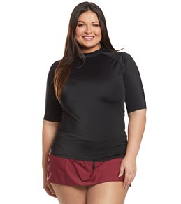 985c08a3d781c Women s Plus Size Short Sleeve Rash Guards at SwimOutlet.com