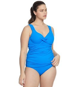 fd38f0c561069 Anne Cole Plus Size Live In Color Underwire Tankini Top