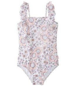 Seafolly Girls' Summer Wallflower Frill Tank Swimsuit (Little Kid, Big Kid)