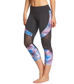 516c298f5ed7a Pink Lotus Movement Exotic 7/8 Yoga Leggings
