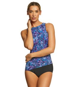 T.H.E. Mastectomy Galaxy High Neck One Piece Swimsuit