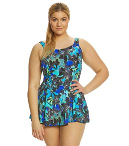 T.H.E Plus Size Mastectomy Morikami Garden Swimdress