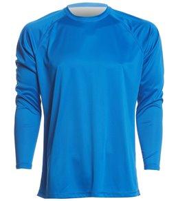 0632cd0b356 in Short Sleeve Swim Shirts. Sporti Men s Solid L S UPF 50+ Sun Shirt