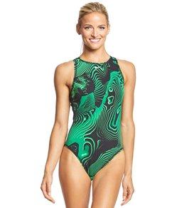 best service 58341 8d476 Nike Womens Geo Shock Water Polo Suit