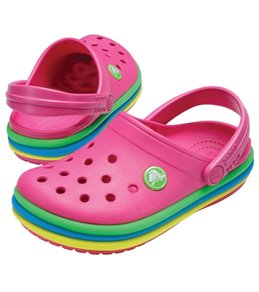 Crocs Girls' CB Rainbow Band Clog (Toddler, Little Kid)