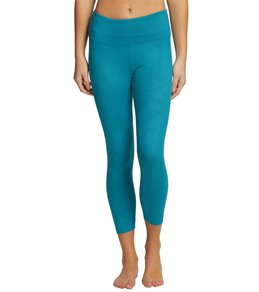 Balance Collection Embossed High Waisted Yoga Capris