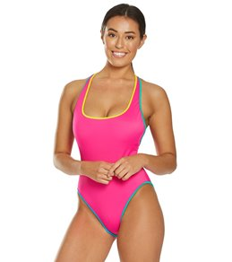 346bd4b19f015 Coco Rave Block Party Max High Leg One Piece Swimsuit