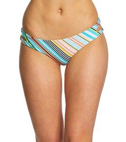 98c8973f3a Bikini Lab South Beach Stripe Cutout Hipster Bikini Bottom